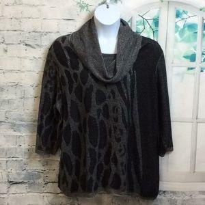 Jones New York Cowl Neck Sweater 3X